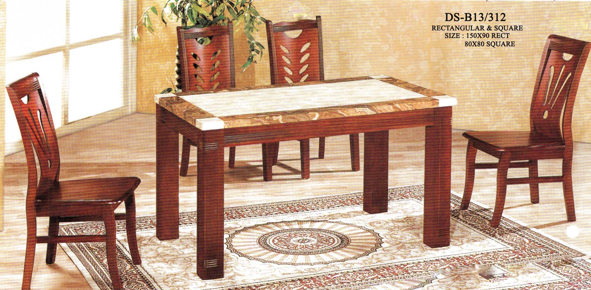 Marble Top Dining Set DSB13/312