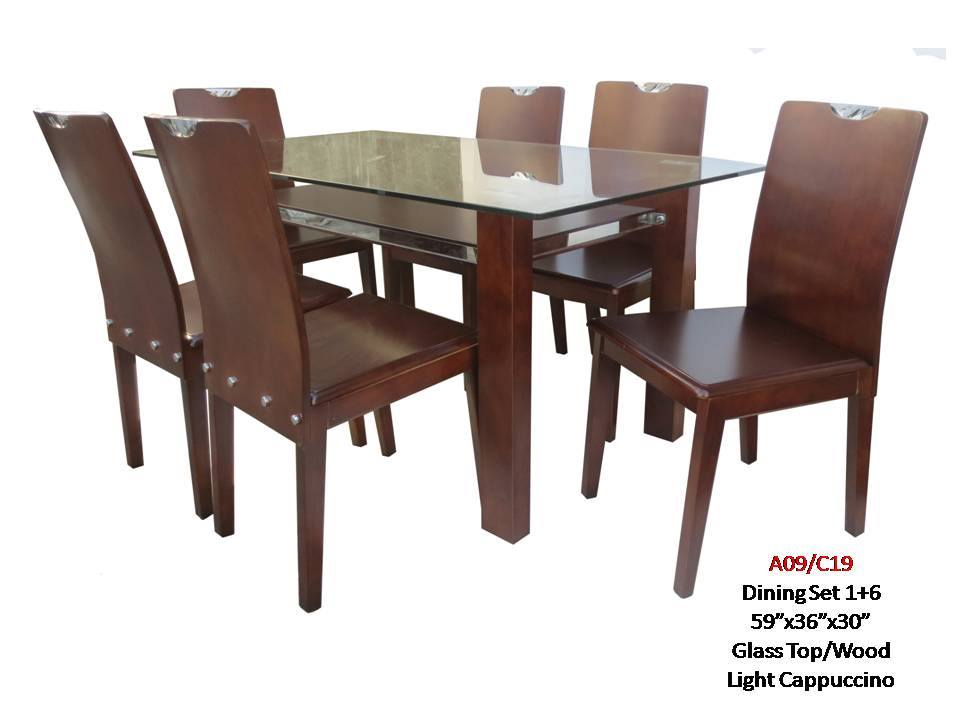 Dining Set 6 Seater- A09/C19