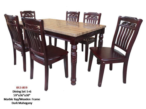 013/819 Marble Dining Set