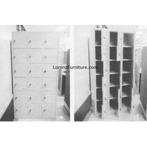 18 Door Steel Locker w/ Master Key SL-18