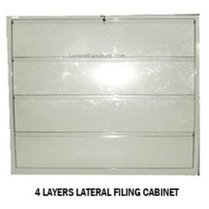 4 Layers Lateral Filing Cabinet