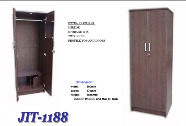 Narrow Wardrobe with Lots of Features, 1188