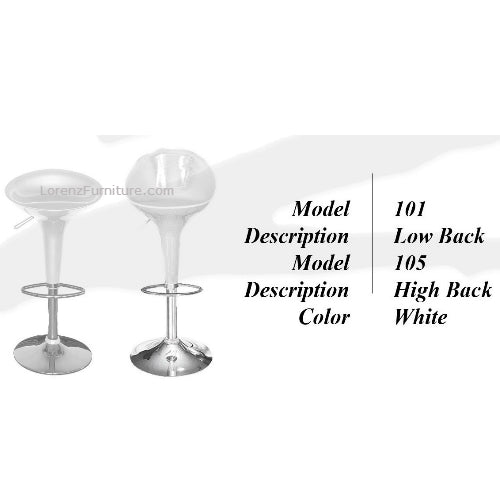 Bar Stool #101, White
