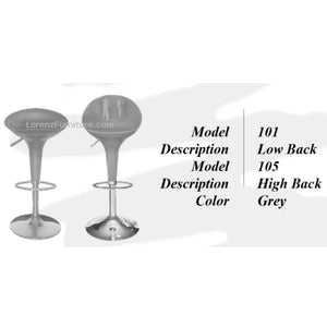 Bar Stool #101, Grey