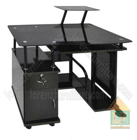 A-06 Plain Black Computer Table