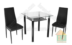 TS-2/B-22 Black Dining Set