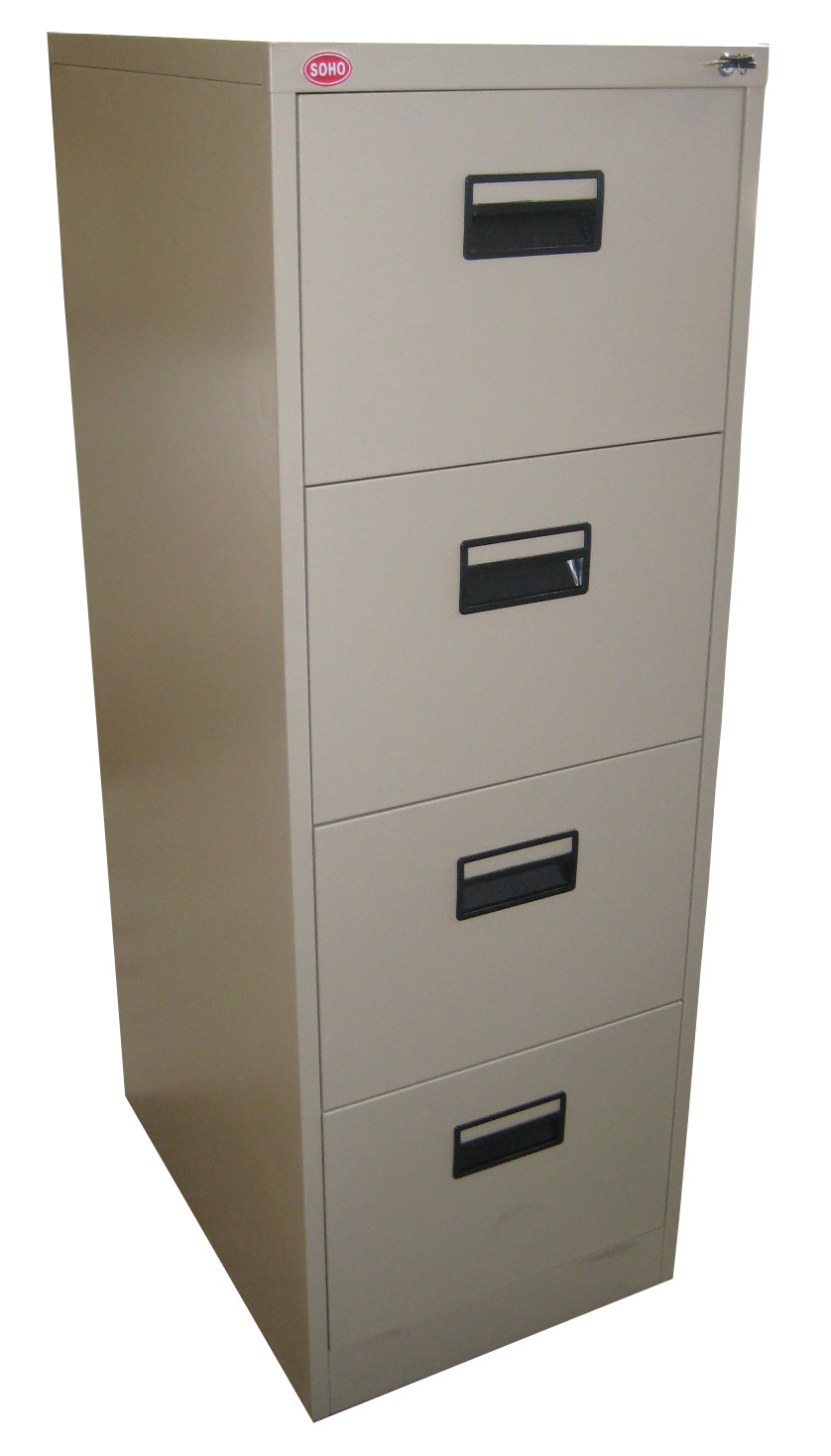 SWITZERLAND 4 Vertical Filing Cabinet w/ Plastic Divider & Central Lock