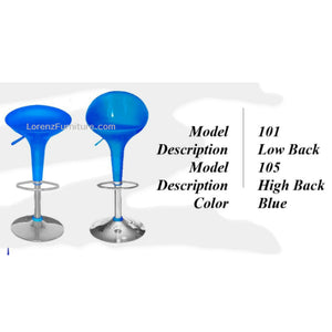 Bar Stool #101, Blue