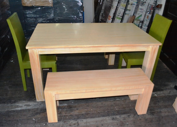 6 Seater Dining Table w/ 2 Benches