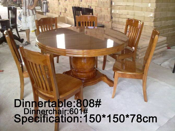 Round Dining Set 6-Seater, 808/601