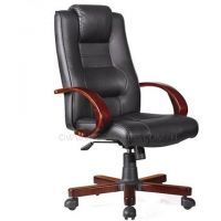Executive Chair with Wooden Arm and Wooden Starbase