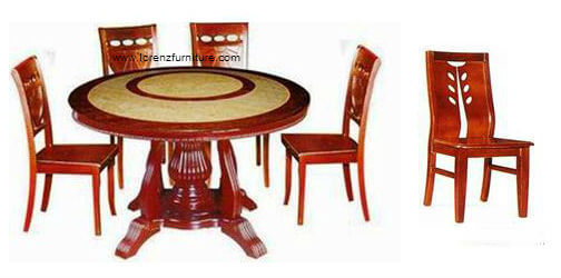 Golden Marble Round Table with #366 Chair