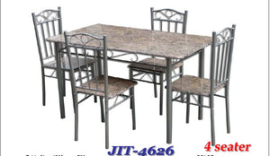Black Faux Marble Top Dining Set