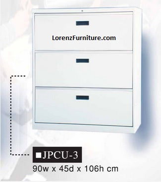 Lateral Filing Cabinet, 3-Layer, JPCU-3