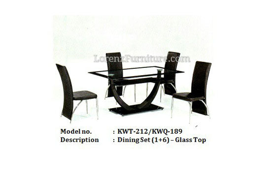 Chroma Glass Dining Set