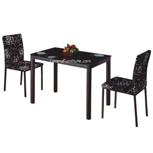 Dining Set, Black Rose