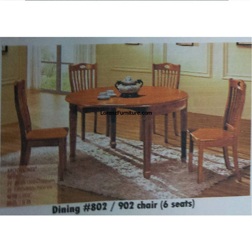 Dining Set, #802 with 902 chair ‰ÛÒ 6 seater