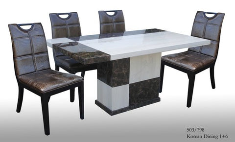 Korean Dining Set, 6 Seater, 703
