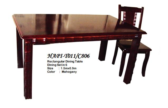 H-T011/C806 Dining Table, 6-Seater