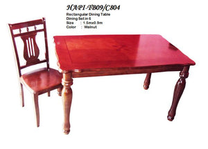 H-TB09/C804 Dining Table, 6-Seater