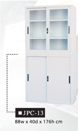 Two-Layer Steel Office Cabinet, JPC-13