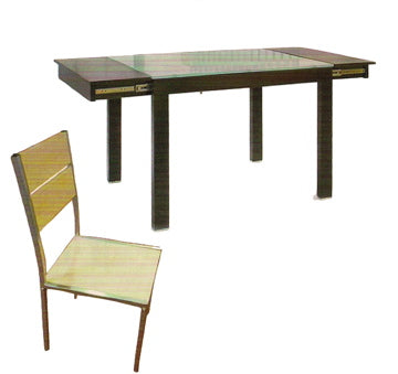 S-DS316 6-Seater Extendable with Glass Dining Set