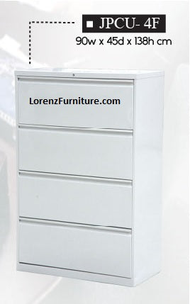 Lateral Filing Cabinet, 4-Layer, JPCU-4F