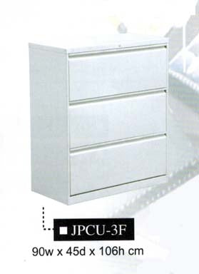 Lateral Filing Cabinet, 3-Layer, JPCU-3F