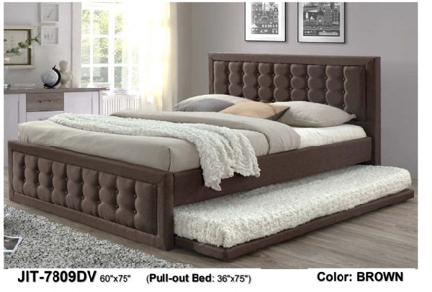 Rachel Upholstered Bed 60 with Pull Out 36