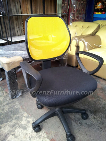 Office Chair with Yellow Back