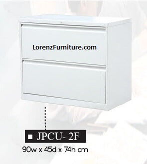 Lateral Filing Cabinet, 2-Drawer, JPCU-2F