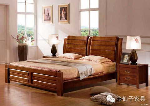 9023 Wooden bed
