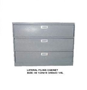 Lateral Filing Cabinet, Three-Drawer