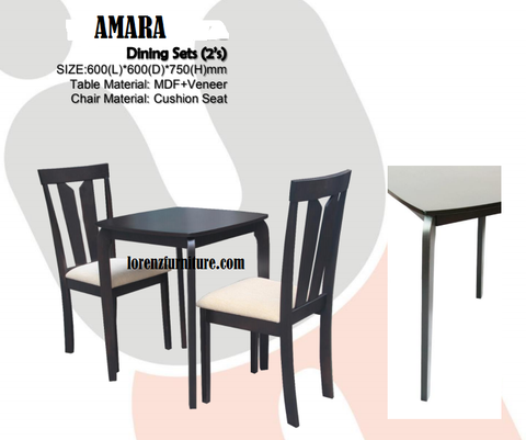 AMARA Dining Set 2 Seaters