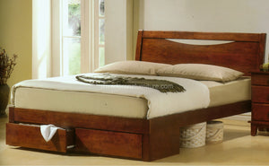 52300 Wooden Bed with Two Drawers
