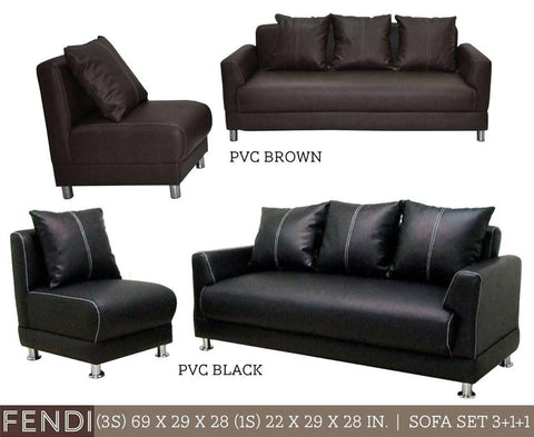Fendi 3-1-1 Sofa Set