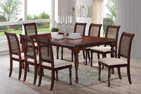 SIVA Dining Table with 8 Chairs