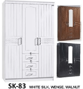 SK-83 3 Door Wardrobe with Mirror