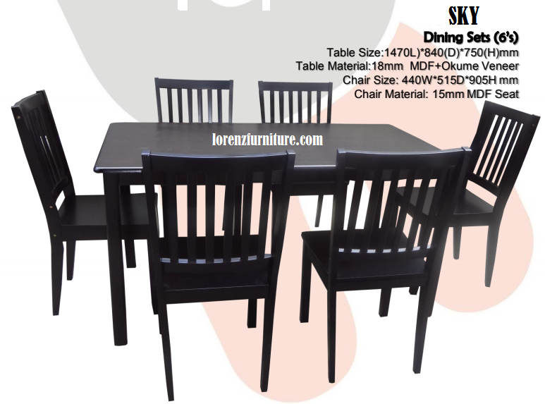 SKY Dining Set 6 Seaters