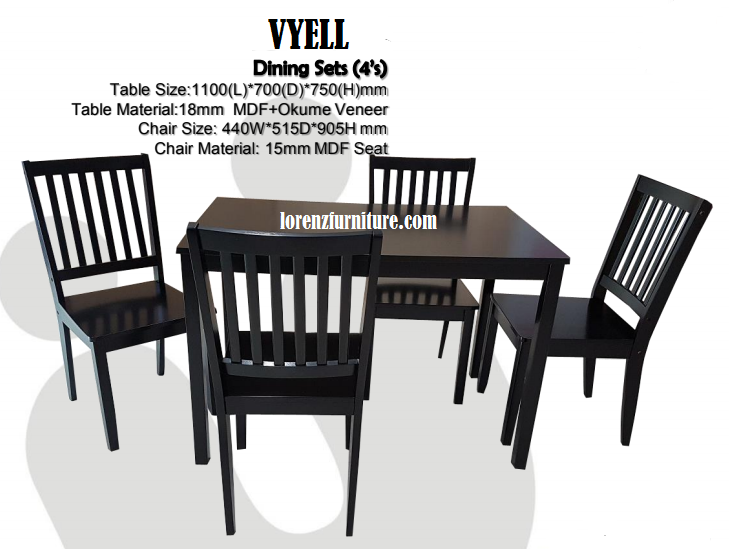 VYELL Dining Set 4 Seaters