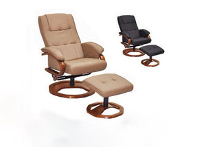 ALONZO Recliner with Stool