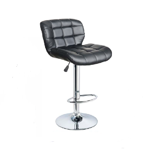 Bar Stool B10, Leather Seats with Stitching, Adjustable, Revolving