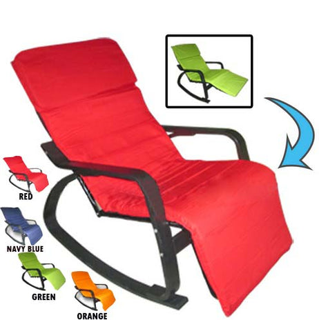 Metal Frame Rocking Chair With Foot Rest FY-013