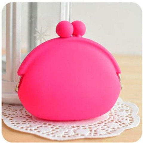 ISKYBOB 1PC Fashion women wallets fashion women messenger bags silicone coin purse baby toys children gift