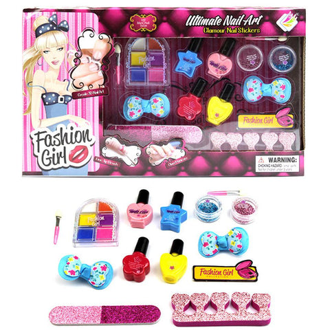 Makeup Sets Toy For Baby Pretend Play Beauty Fashion Toys Children Girls Makeup Toys Manicure Washable Peelable Nail Polish