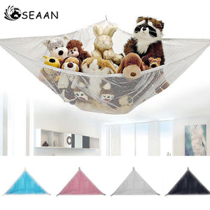SEAAN 1 pcsKids Toy Soft Teddy Storage Hammock Mesh Baby Bedroom Tidy Nursery Net New Dropshipping Wholesale Lovely Toy Orgnizer