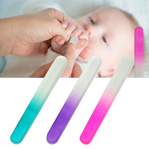 Color Sandblasting Crystal Glass Baby Nail Stripe Convenient And Durable Nail File Polishing Nail Kit Set Multi-color