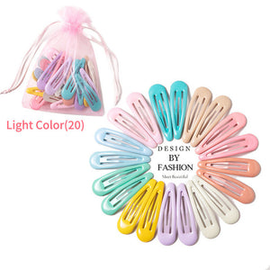 20pcs 5cm Snap Hair Clips for Hair Clip Pins BB Hairpins Color Metal Barrettes for Baby Children Women Girls Styling Accessories