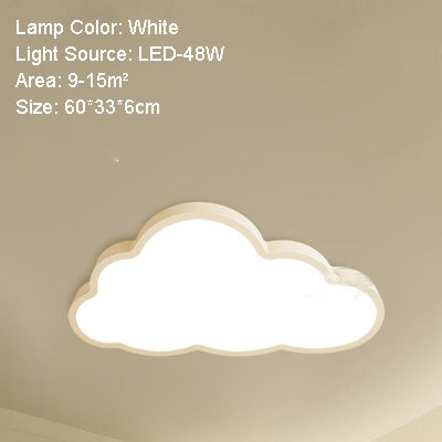 36W 48W LED Cloud Ceiling Lights Iron Lampshade Fixture Ceiling Lamp Children Baby Kids Bedroom Lighting Fixtures 50x28 cm