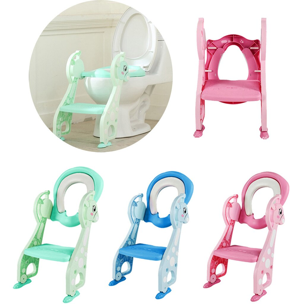 2019 Children Strong Toilet Stairs Portable Deer Baby Baby Potty Training Toilet Ring Baby Outdoor Travel Potty Folding Chair